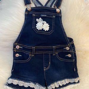 Toddler girl short overalls